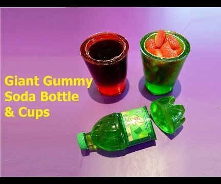How to Make 7up Soda Gummy Bottle Shape and Cups - Easy DIY Jello Dessert!