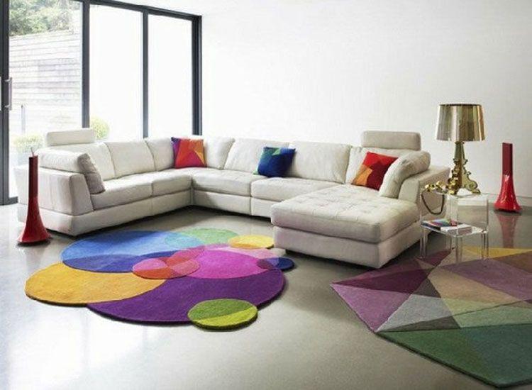 Tappeti Colorati Per Salotto : Bellissimi tappeti colorati originali e dinamici bedrooms