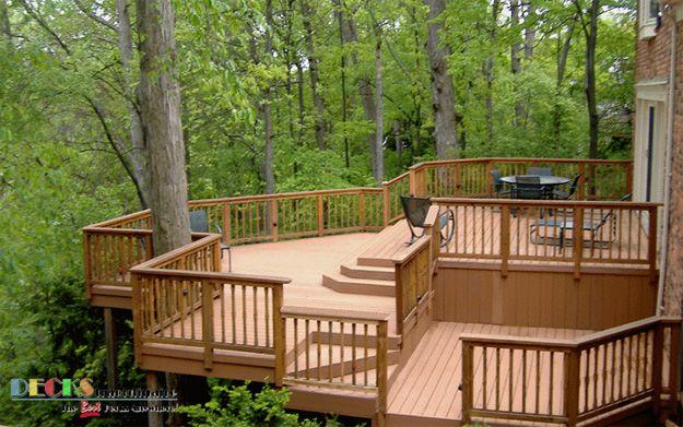 Beautiful multi level deck porches decks pinterest for Multi level deck ideas
