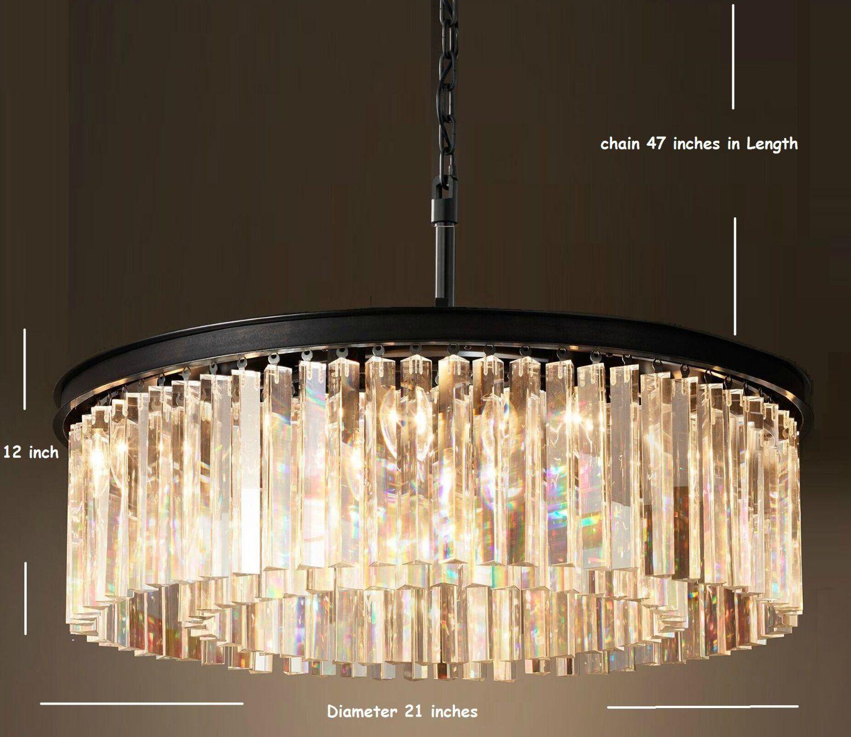 a4bddd7147 5 Lights Modern Contemporary Crystal Chandelier Ceiling Light Pendant Light  for Dinning Room, Living Room - - Amazon.com