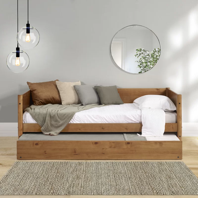Grady Twin Solid Wood Daybed With Trundle Wood Daybed Twin