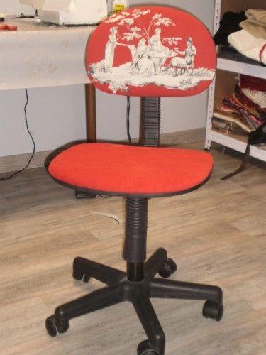 M thode tuto pour recouvrir une chaise de bureau ameublement chaise bureau tissu de - Recouvrir chaise tissu ...
