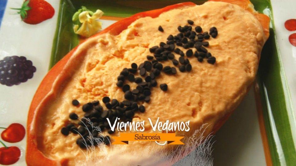 Prepara un helado vegano de papa y papaya - Sabrosía