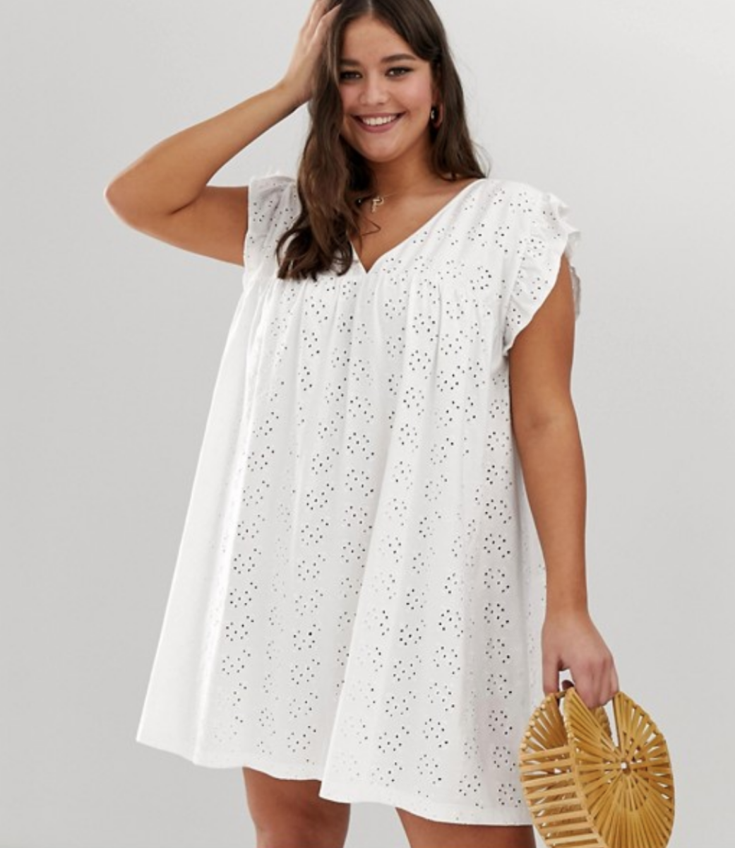 These Airy Dresses Will Keep You Cute Sweat Free Through The Blazing Summer Heat Plus Size Outfits Smock Dress Airy Dress [ 1200 x 1041 Pixel ]