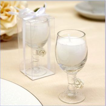 These Sparkling Wine Glass Candle Favors Will Illuminate Your Reception With A Joie De Vivre While Candle Wedding Favors Wine Glass Favors Wine Glass Candle
