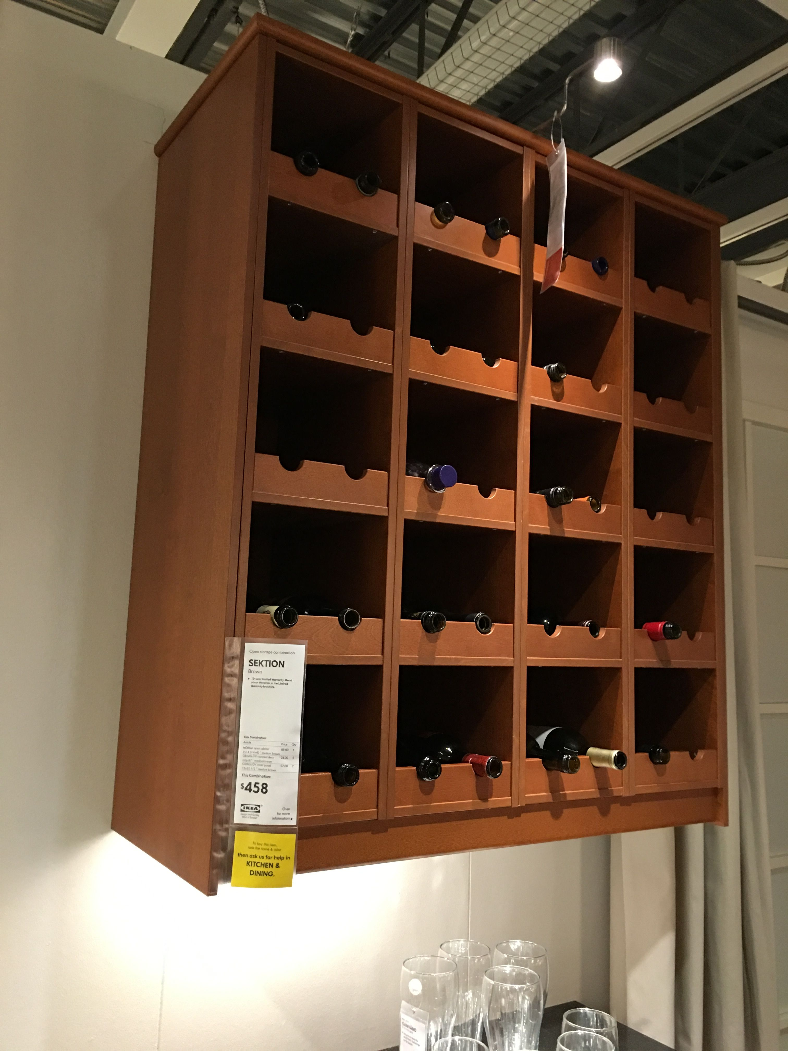 IKEA Sektion Wine Storage Basement Bar Pinterest