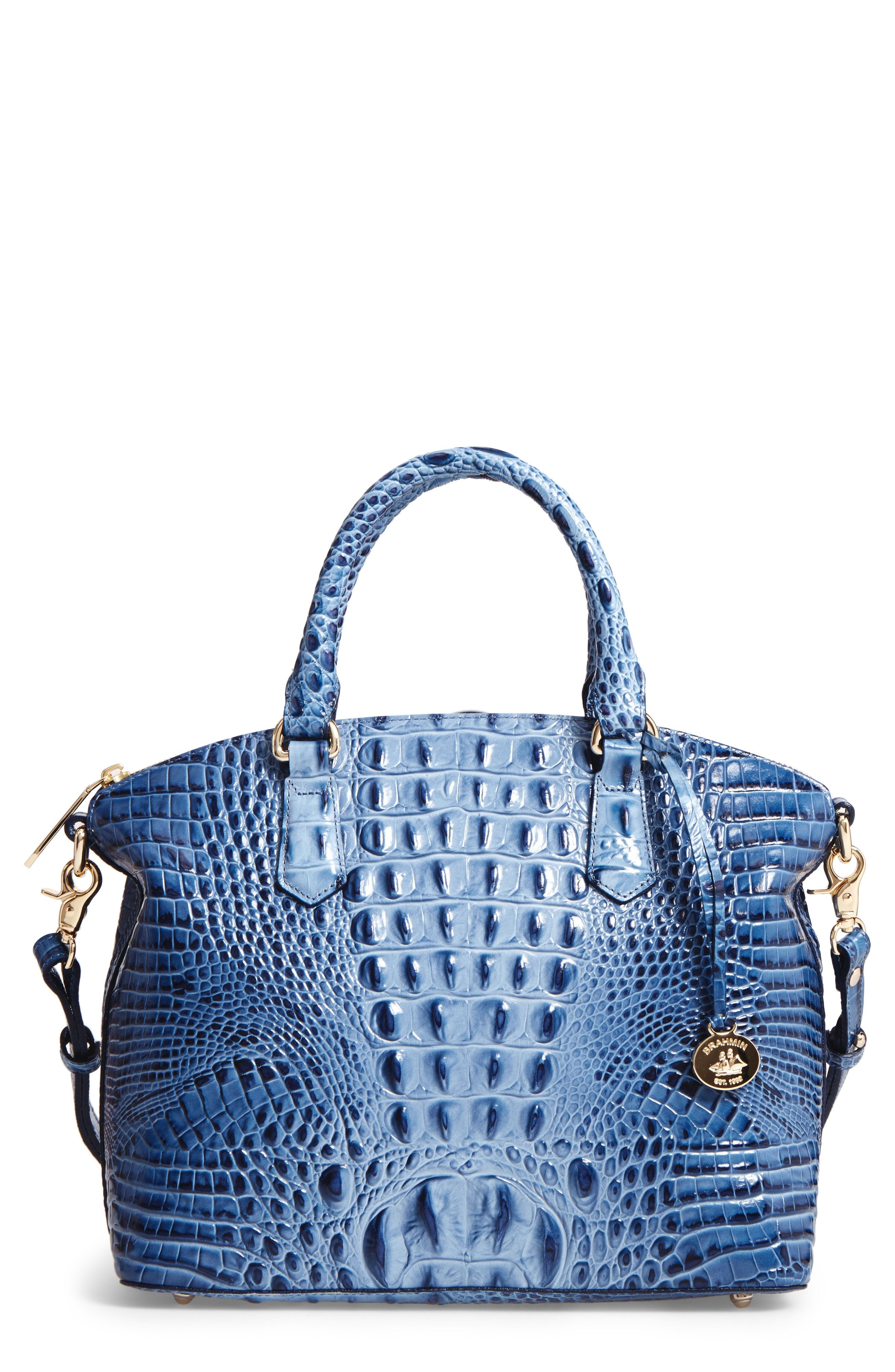 fb867e9fe2 New Brahmin Medium Duxbury Croc Embossed Leather Satchel fashion online.    275   shop.seehandbags