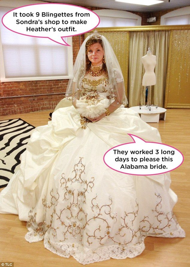 80-Pound Wedding Dresses Bedazzled In Jewels?