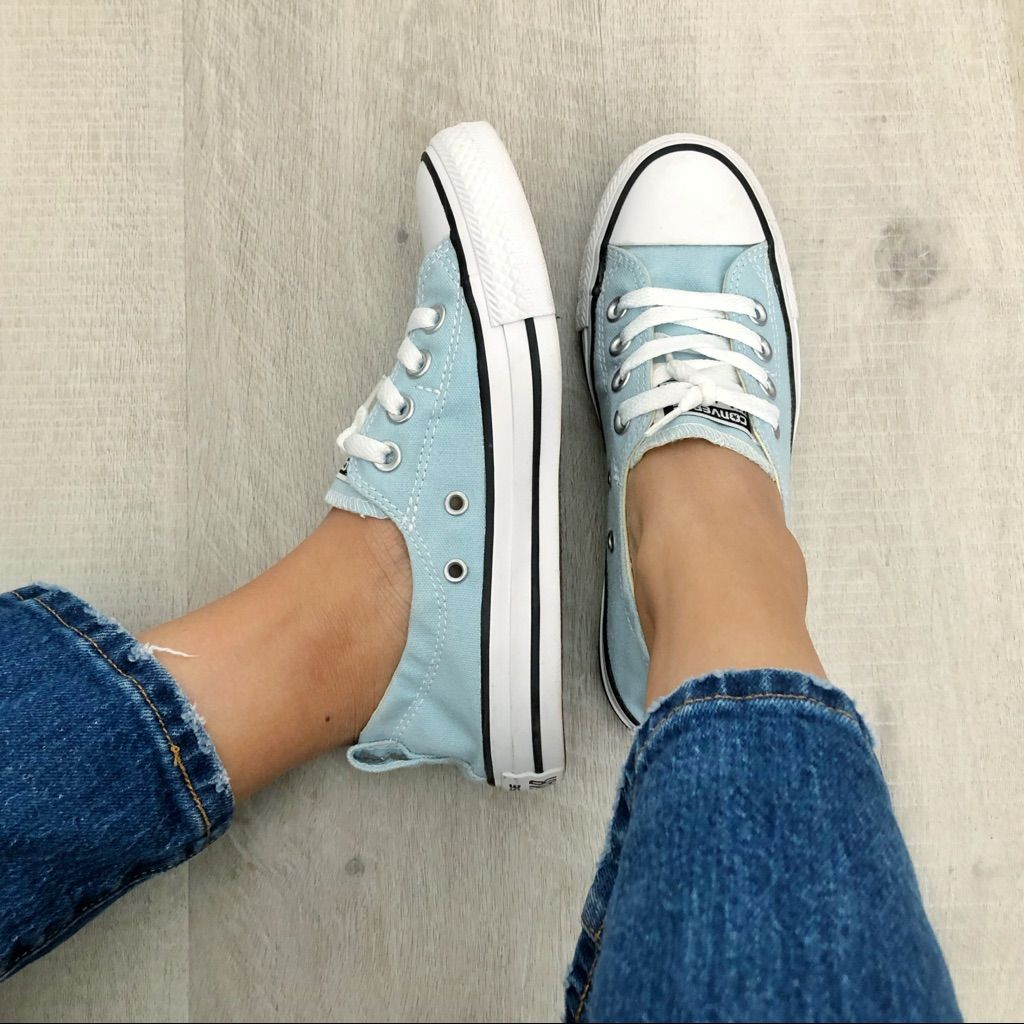 Converse Shoes | Converse All Star Baby Blue Slip On | Color