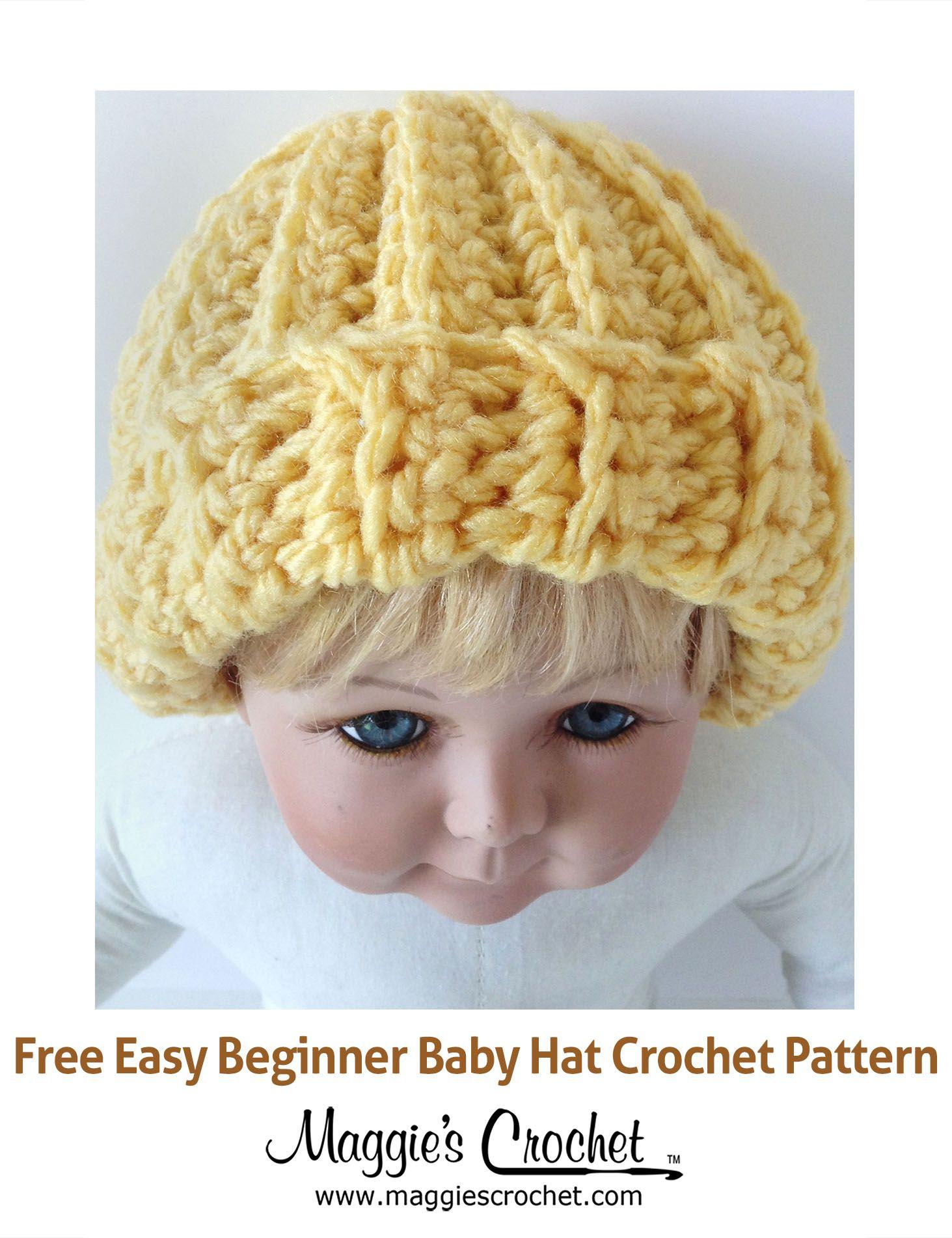 Easy Beginner Baby Hat Free Crochet Pattern from Maggie\'s Crochet ...