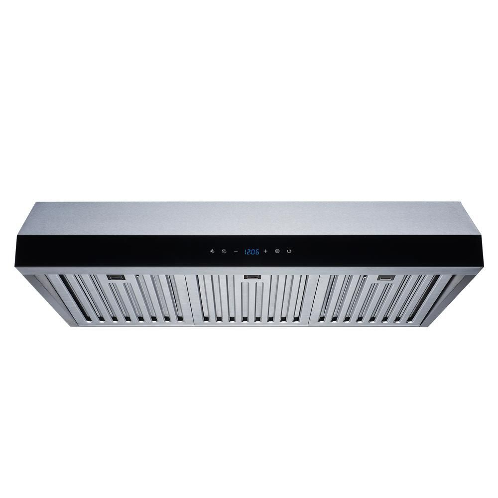 Winflo 30 In Convertible 500 Cfm Under Cabinet Range Hood In Stainless Steel With Baffle Filters And Touch Control Ur011b30l The Home Depot In 2021 Range Hood Under Cabinet Range Hoods Kitchen Range Hood