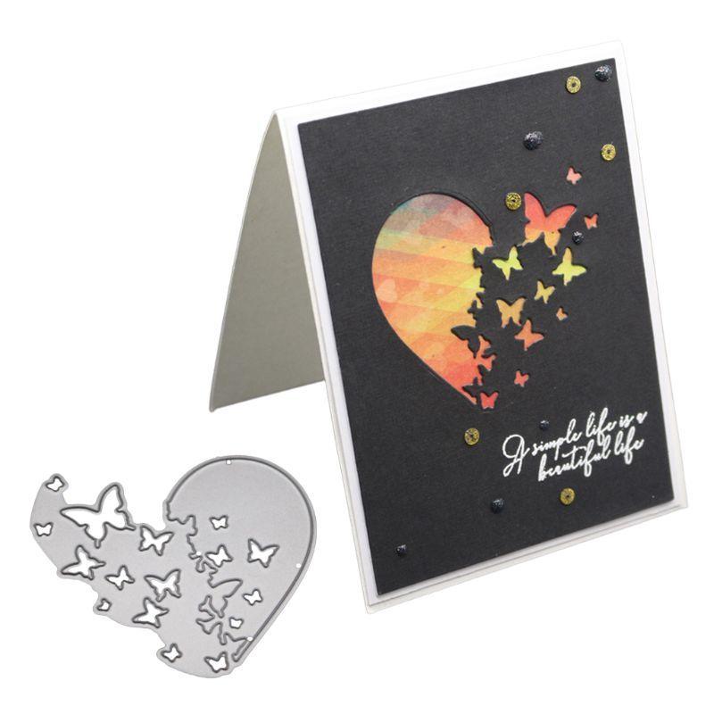Heart Metal Cutting Dies Stencil Scrapbooking Album Paper Card DIY Craft Decor