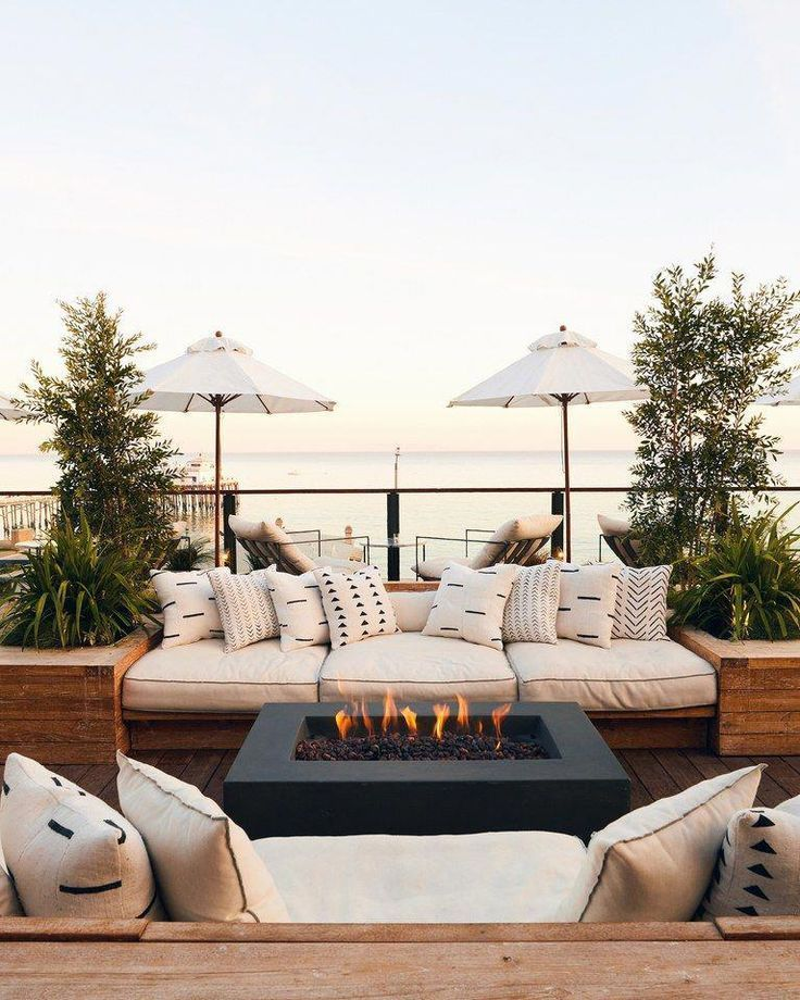 Surfride Hotel Malibu Los Angeles Firepit Exterior Outdoorideas