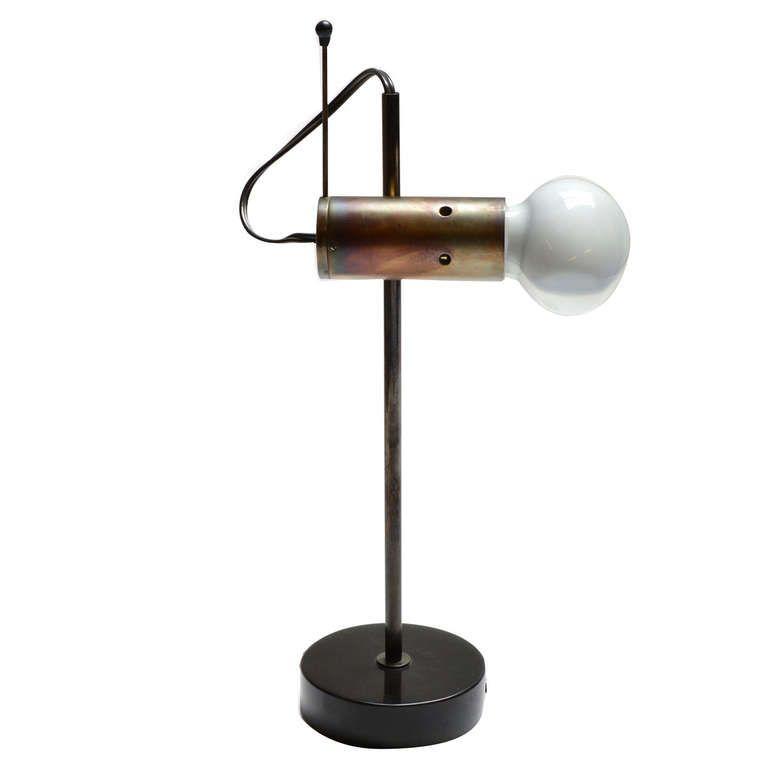 Desk Light 251 By Tito Agnoli 1955 1stdibs Com Luminaire Mobilier