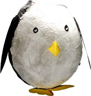how to make a paper mache emperor penguin