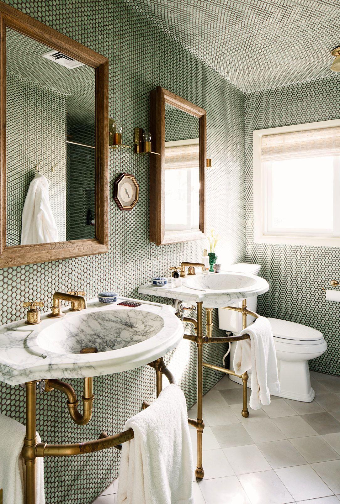 Home Bathrooms Bathroom Penny Round Tiles Bathroom Inspiration