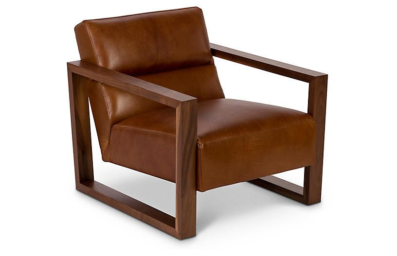 Bond Chair, Brown Leather