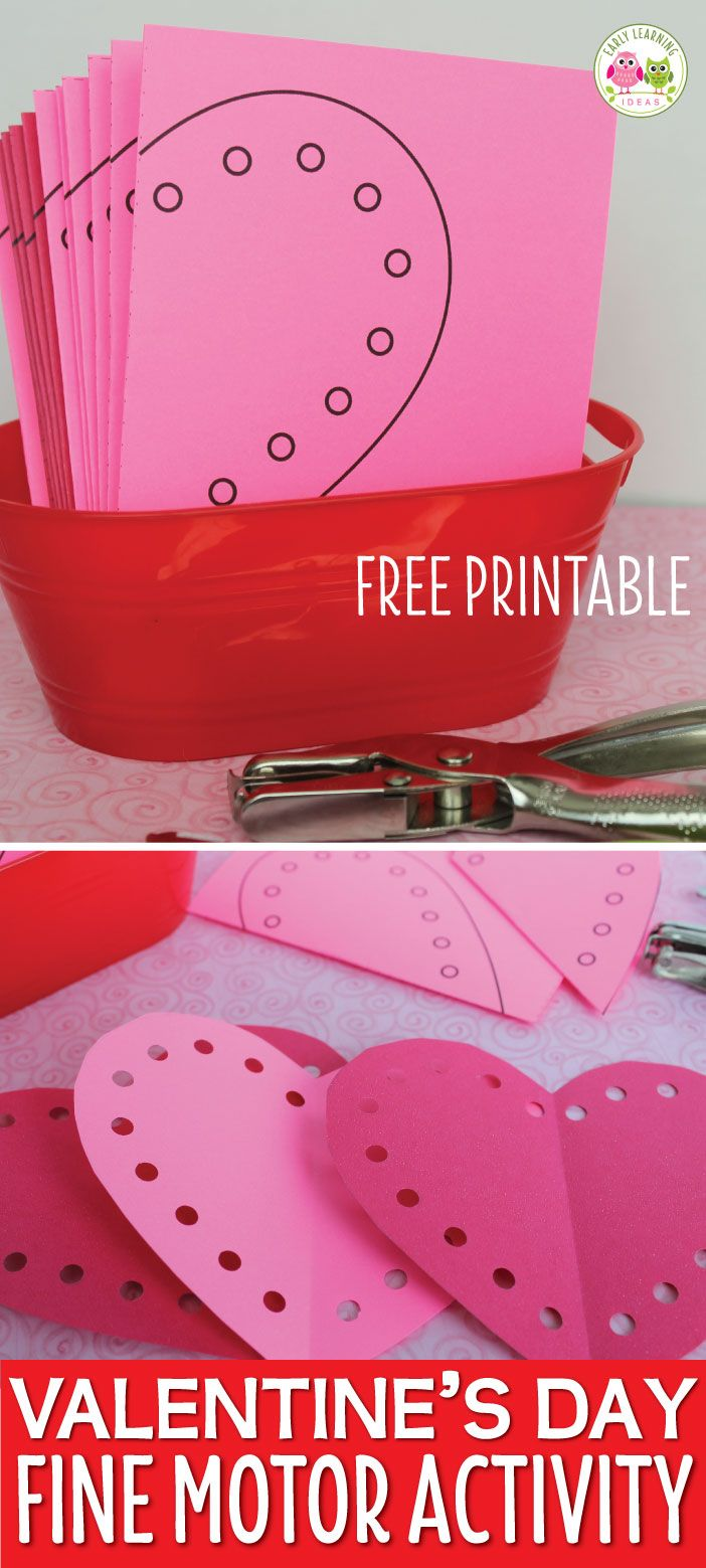 Valentine S Day Activity Heart Fine Motor Practice Free Printable