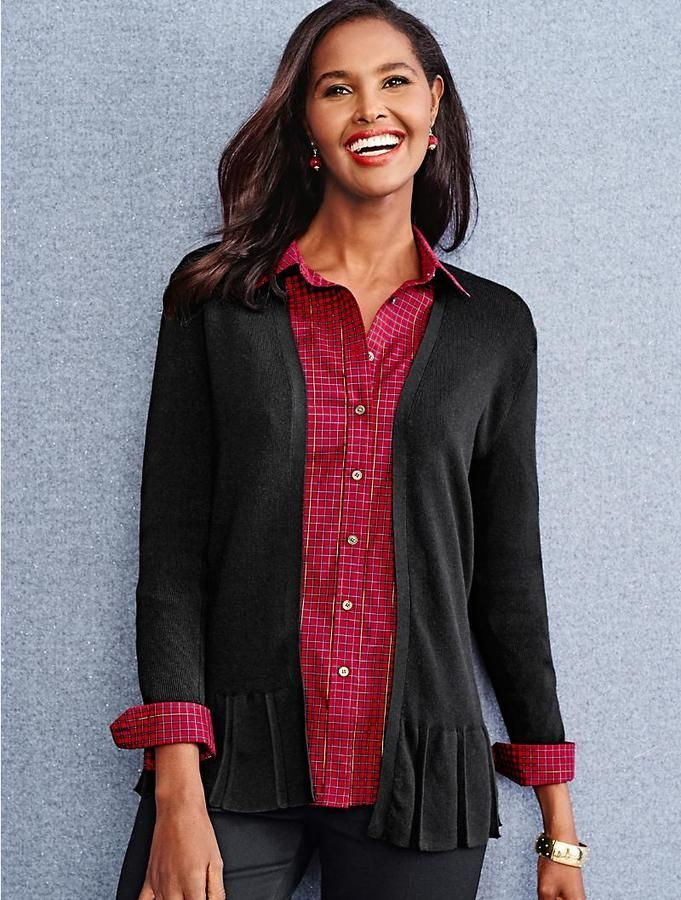 e3190dabac7e4 Classic Button-Front Wrinkle-Resistance Shirt - Shimmering Plaid   commissionlink