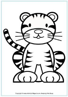 Tigers Coloring Pages Tiger Drawing Tiger Drawing For Kids