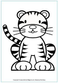 Tiger Crafts Tijger Kleurplaten Dier Sjablonen