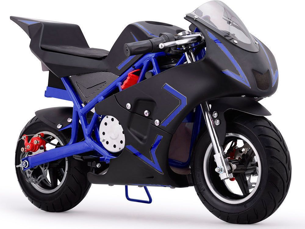 Pocket Bike Mini Blue Motorcycle Boys Girls Youth Gas Powered 40cc