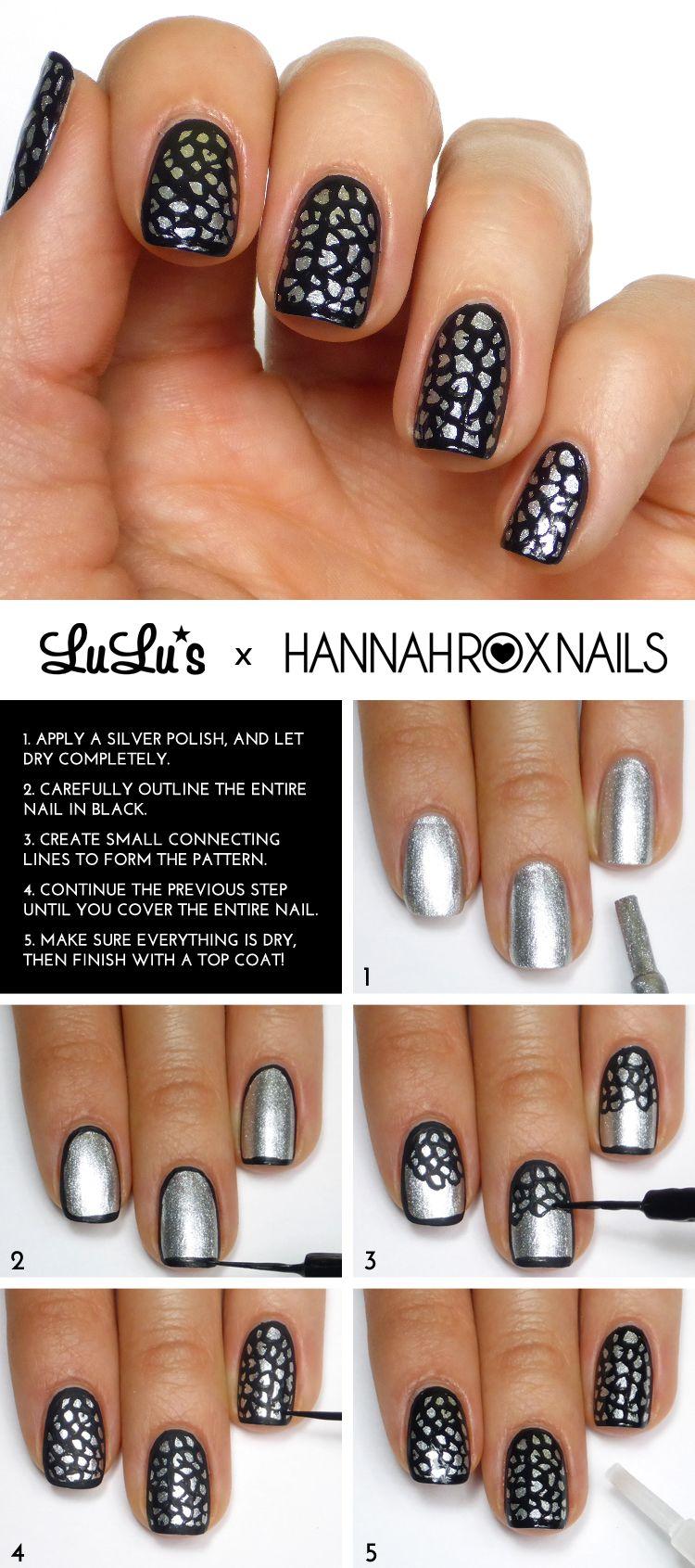 Mani Monday: Silver Leopard Animal Print Manicure | Nagelschere und ...