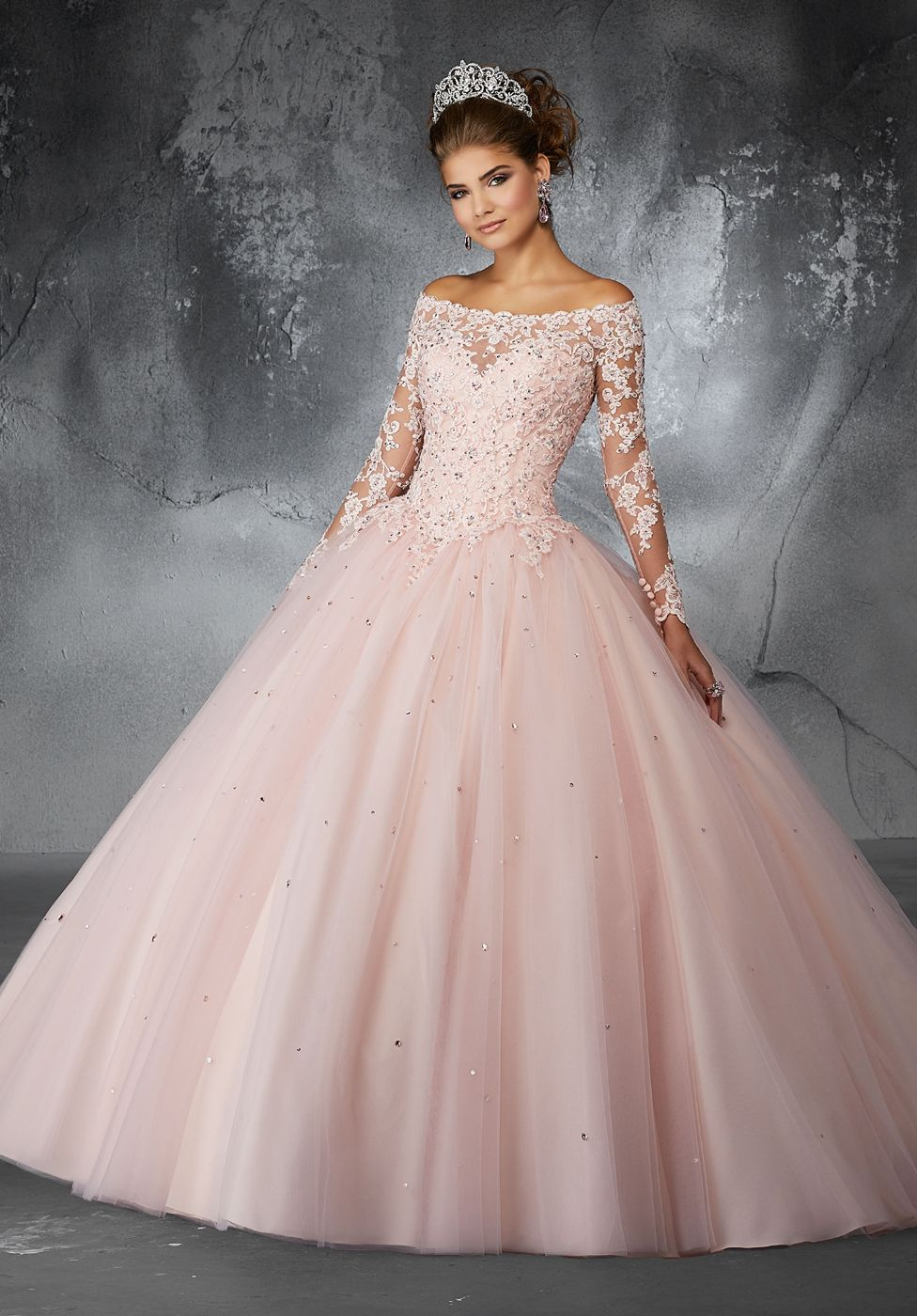 3a119303ac0 Buy Mori Lee 60052 Long Sleeve Quinceanera Dress today at MadameBridal.com  authorized retailer store. With every order get your free.