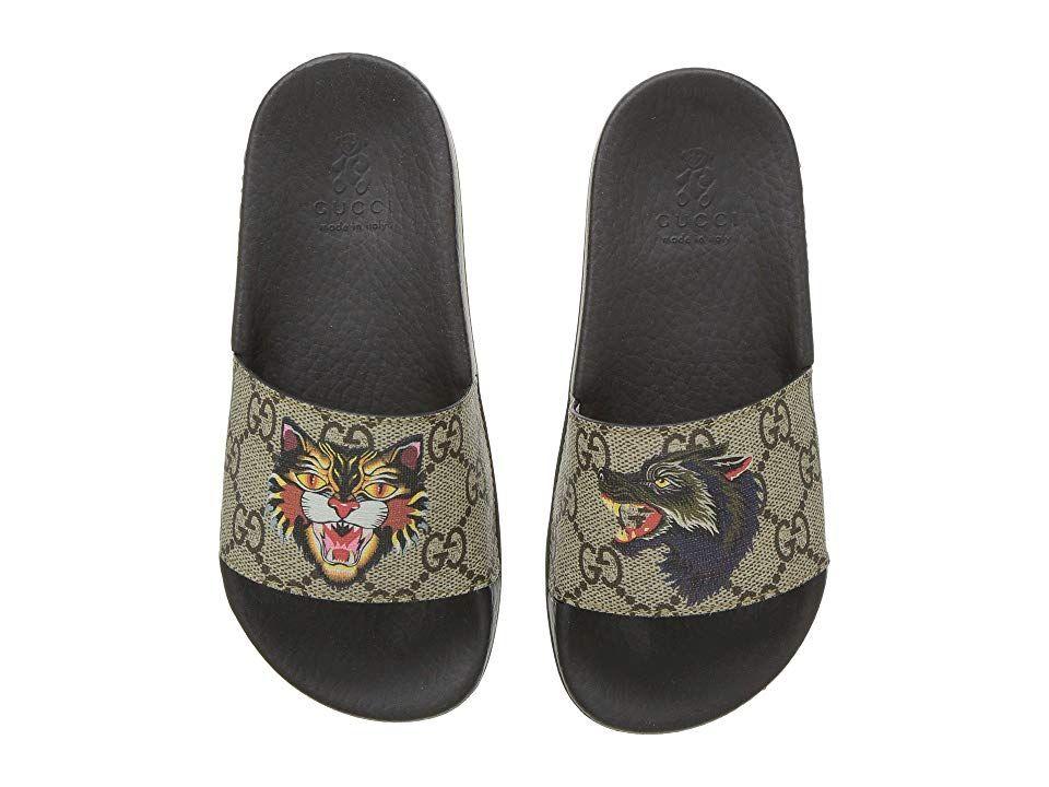 3849aeeb8 Gucci Kids Pursuit Slide (Little Kid) (Beige Multi) Girls Shoes. Your