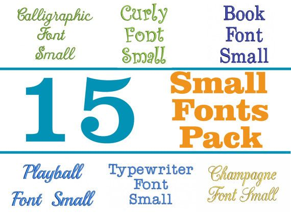 Download 15 Machine Embroidery Small Fonts Pack | Font packs ...