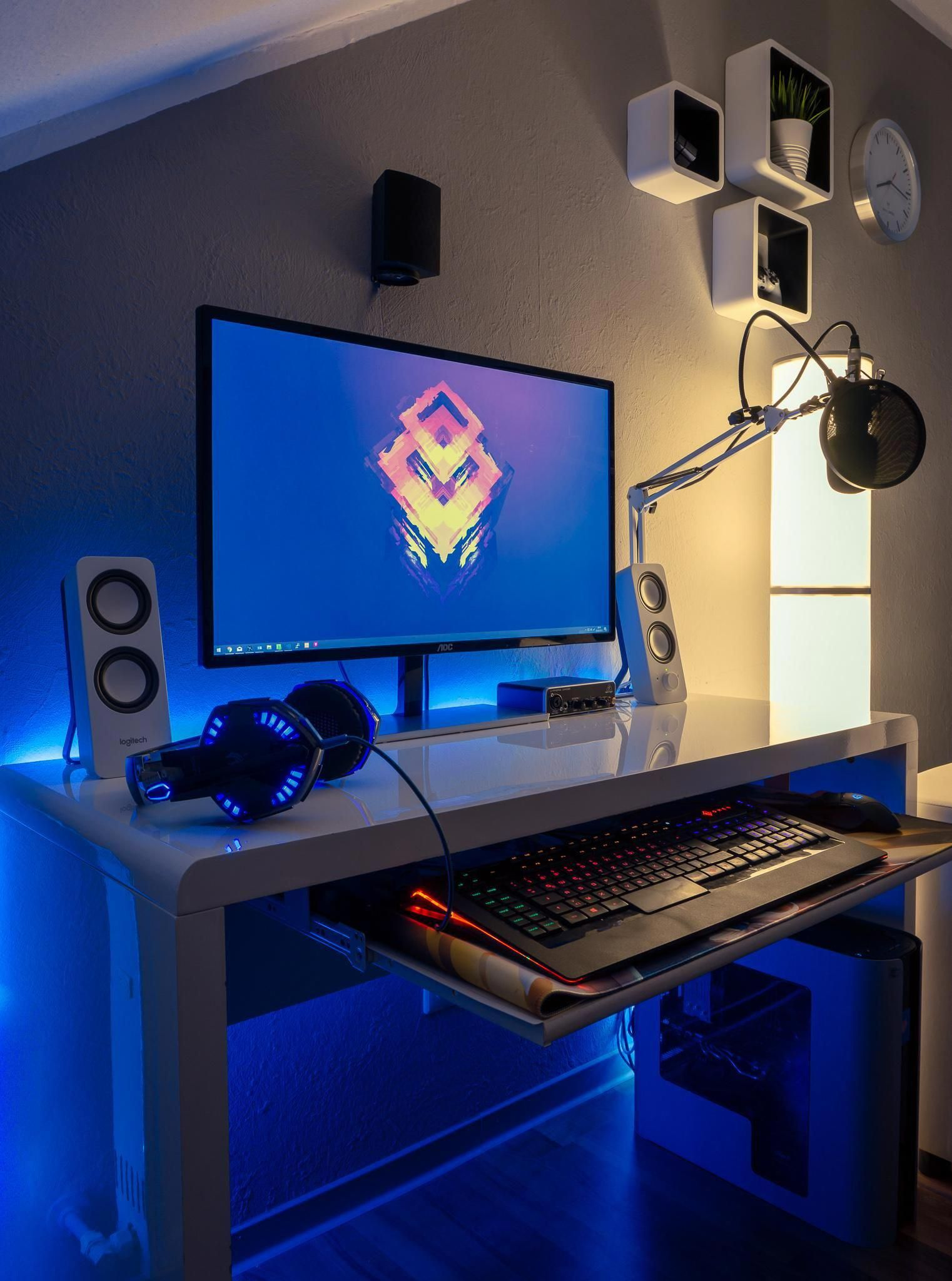 Design Your Room Game: Black & White At Night #GamingComputerSetupTechnology