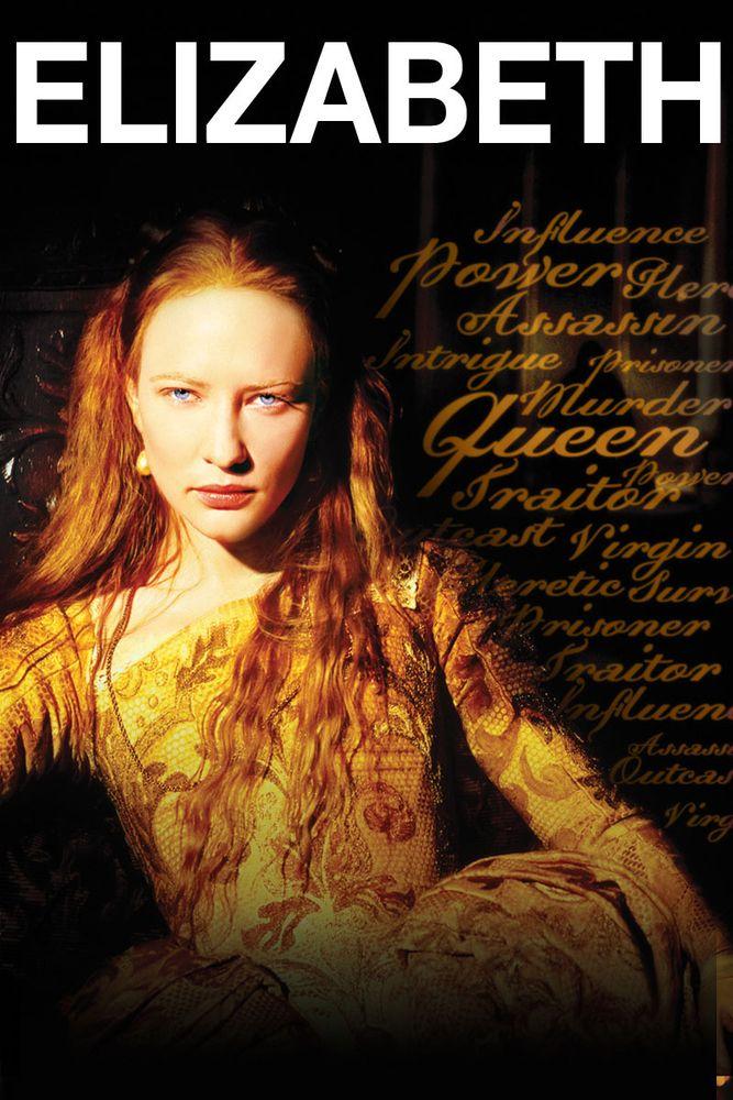 Elizabeth Movie Poster Cate Blanchett, Geoffrey Rush