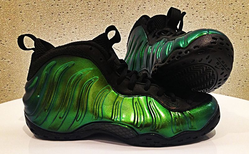 "ad277ca85a797 ... The Nike Air Foamposite One ""Emerald"" Custom and an Air Jordan 11 Low Custom  Nike Air Foamposite One Predator ..."