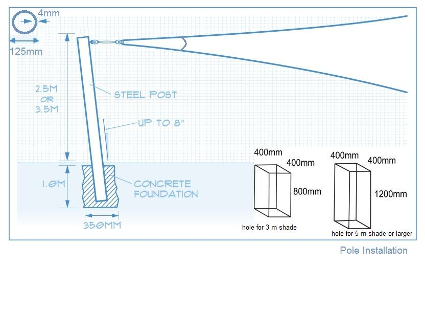 Metal Pole Supply And Installation Shade Sail Accessories Pole Foundation Welding Of Poles Metal Fabrication For Shade Sail Sun Sail Shade Shade Sails Patio