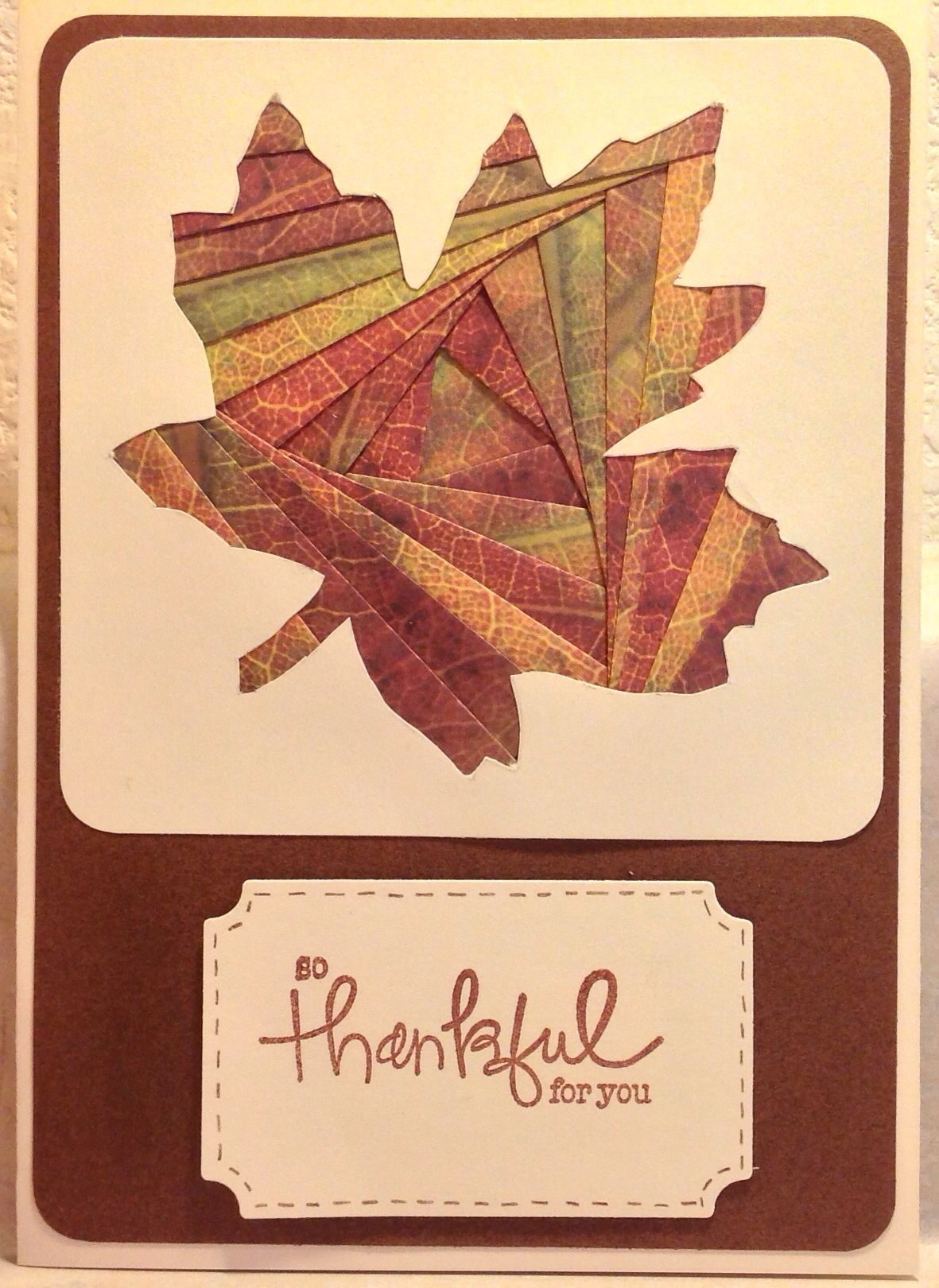 Iris Folded Fall Leaf Card | Iris folding cards. | Pinterest ...