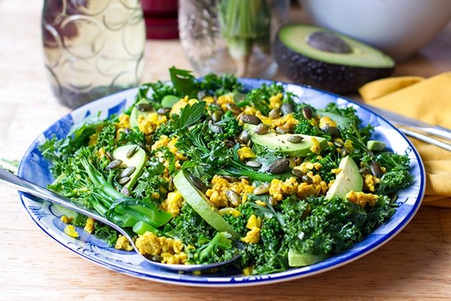 Turmeric Chicken & Kale Salad with Honey Lime Dressing | Eat Drink Paleo