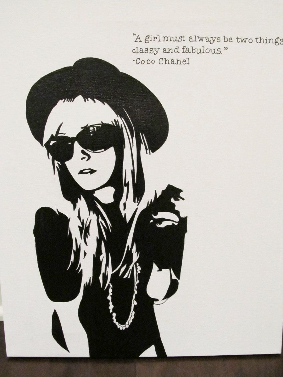 Chanel painting by jackrivington on Etsy, $80.00...I NEED IT