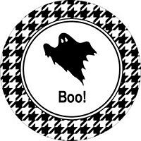 free avery templates boo ghost with houndstooth. Black Bedroom Furniture Sets. Home Design Ideas