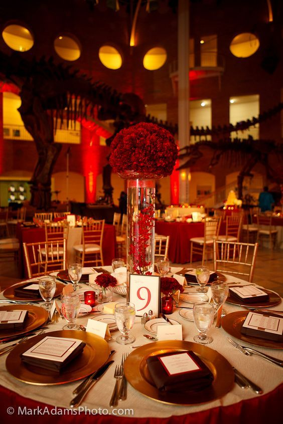Gold wedding decorations image by Mikey Caughey on wedding decorations Red gold wedding Gold