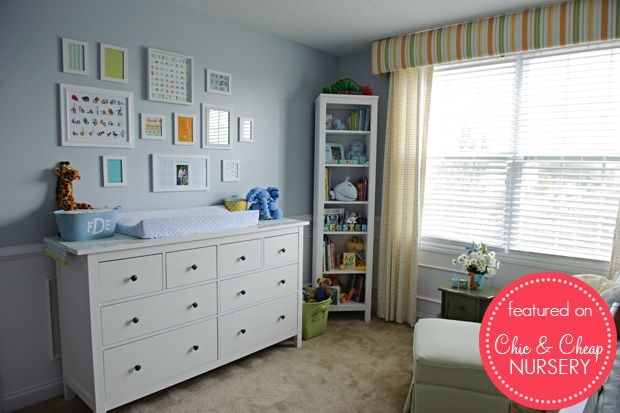 Lovely Delicate Powder Blue Baby Boy Nursery Room For The Nursery
