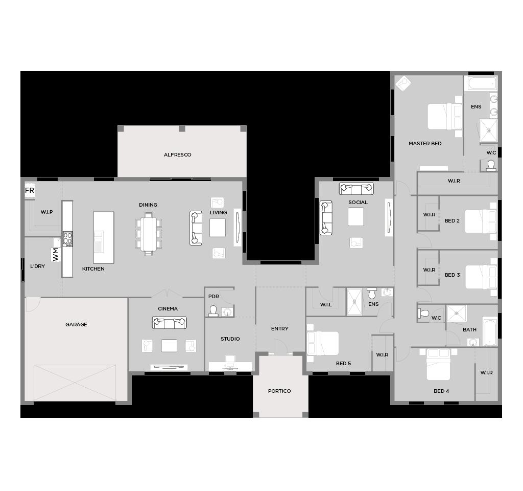 Prato 43 Floorplan Home Design Floor Plans New House Plans 5 Bedroom House Plans