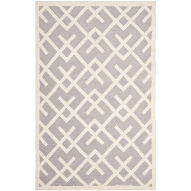 Moroccan Inspired Design And Dense Hand Woven Wool Pile Highlight This Handmade Dhurrie Rug
