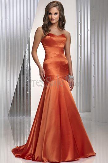 Orange Mermaid Evening Dress Styles