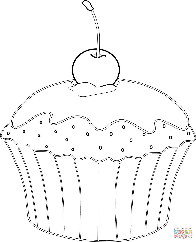 Muffin Mit Kirsche Super Coloring Cupcake Coloring Pages Super Coloring Pages Colorful Pictures