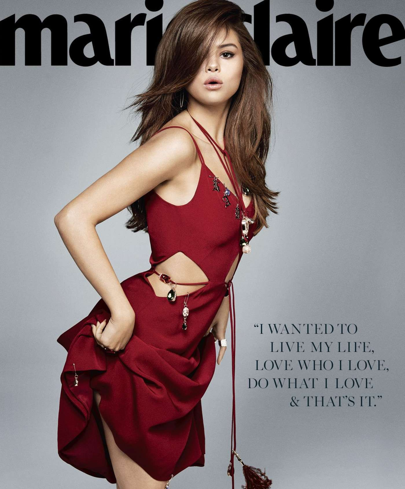 Selena Gomez photographed by Kai Z Feng for Marie Claire of June 2016