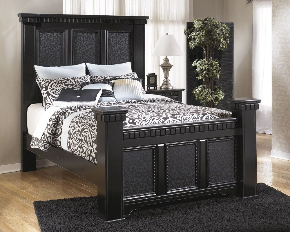 Cavallino Queen Mansion Bed B291 157 164 98 Complete Bed Sets Price Busters Furniture Black Bedroom Furniture Set Bedroom Furniture Sets Furniture
