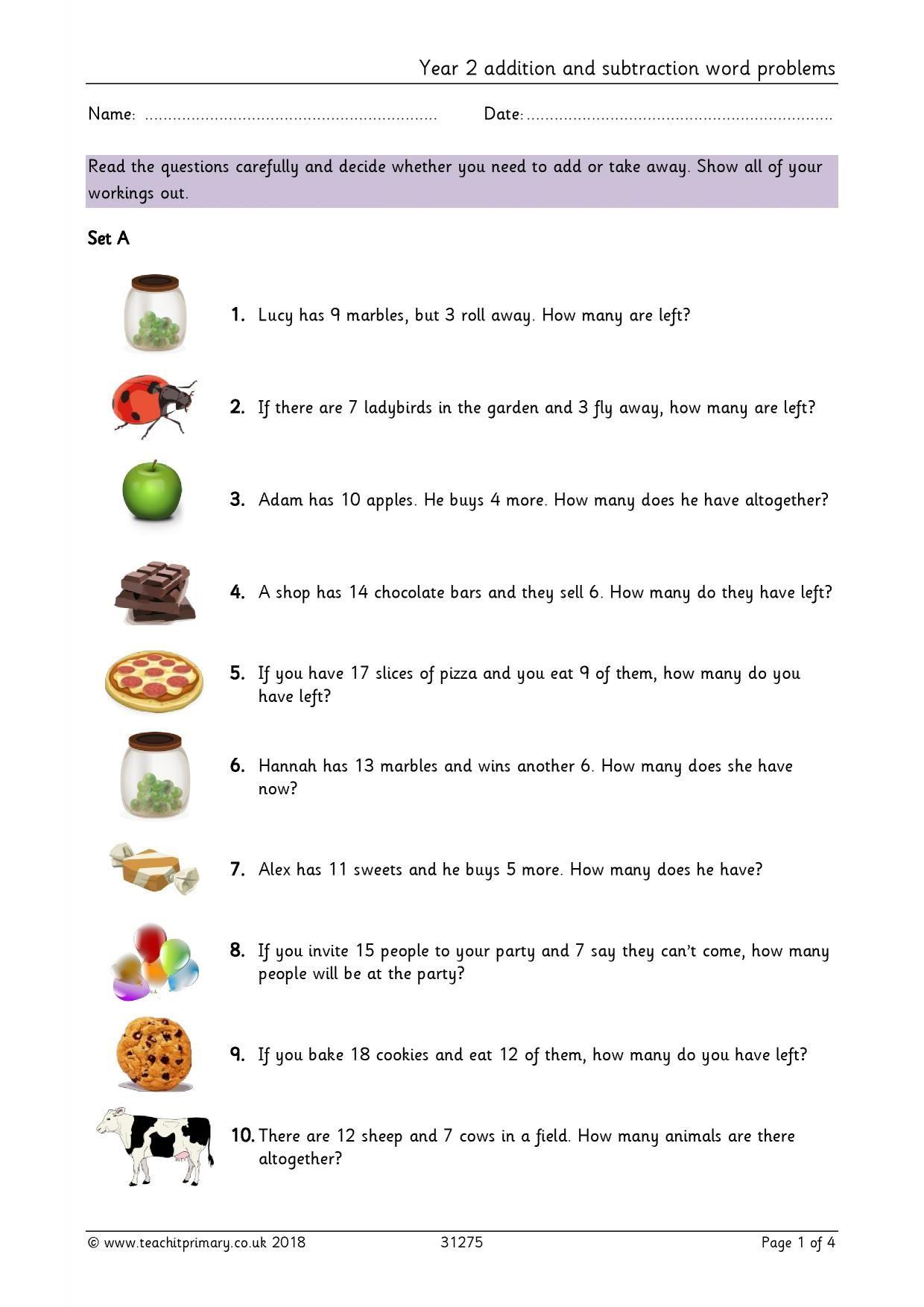 22 Bar Model Addition And Subtraction Worksheets