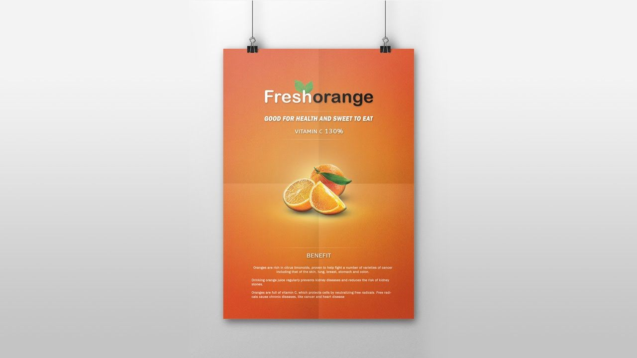 Product Advertising Poster Design In Photoshop CC ...