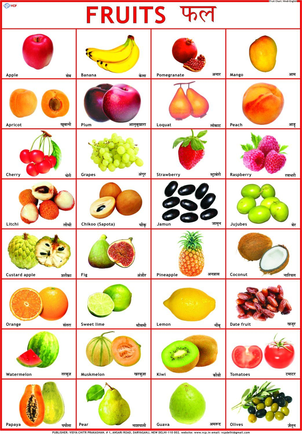 Image result for alphabet chart Vegetable chart, Fruit