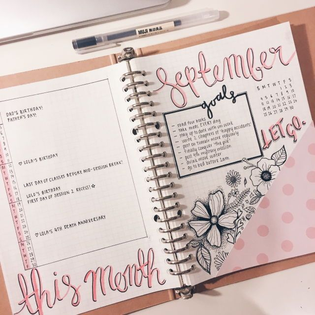 nursha notizheft bullet journal pinterest kalender tagebuch und notizbuch. Black Bedroom Furniture Sets. Home Design Ideas